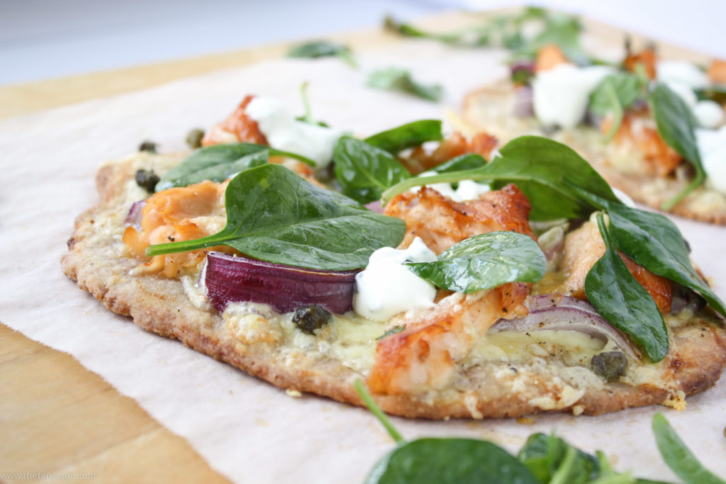 Flatbread with smoked salmon and capers   The Fare Sage