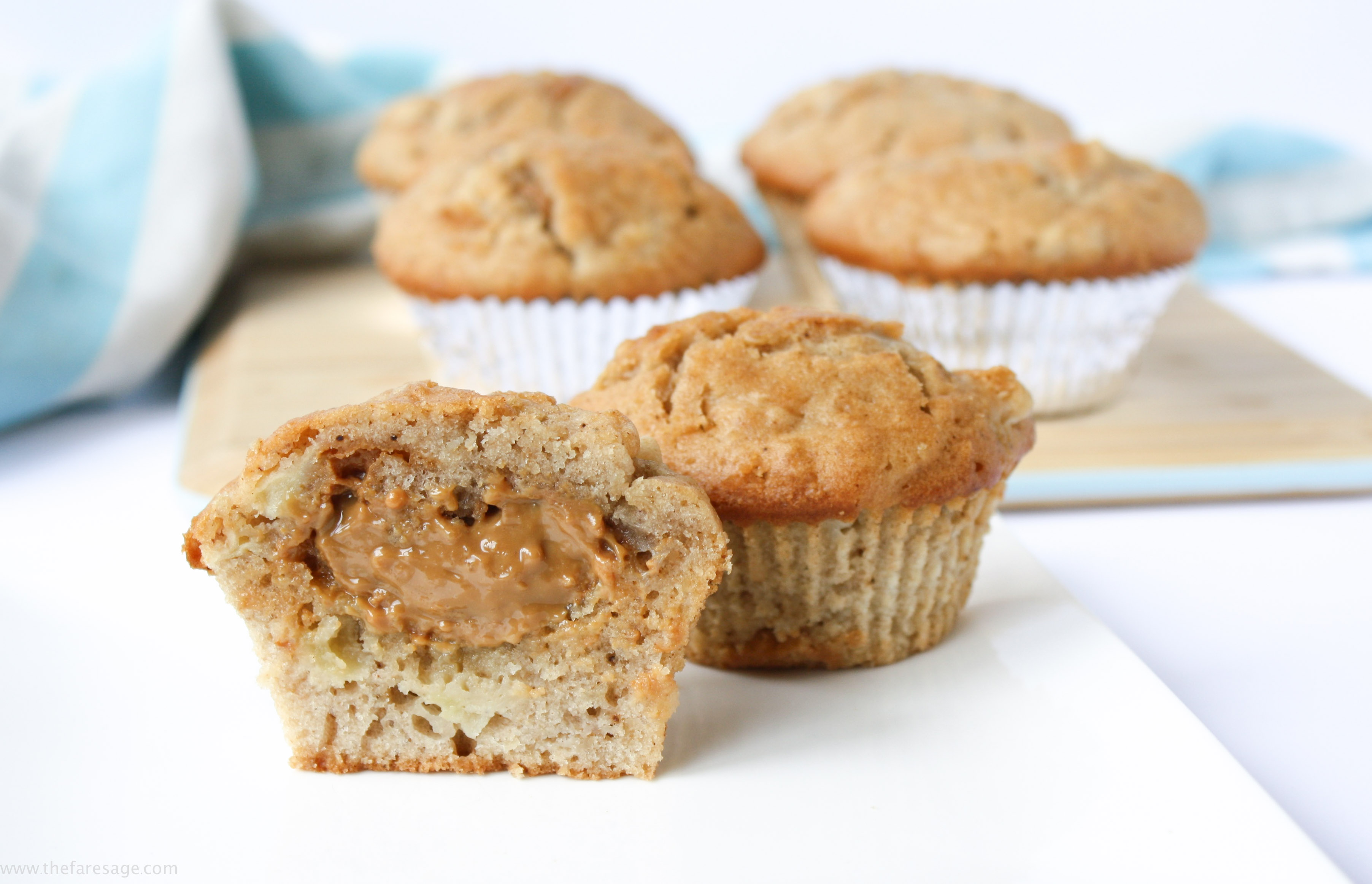 Apple pie muffins with salted caramel centre | The Fare Sage